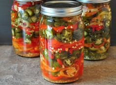 These are so easy and much better than what you can buy in the store: Refrigerator Pickled Hot Peppers - The Creekside Cook