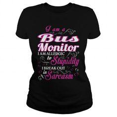 bus monitor WOMEN T Shirts, Hoodies, Sweatshirts. BUY NOW ==► https://www.sunfrog.com/LifeStyle/bus-monitor-WOMEN-Black-Ladies.html?41382