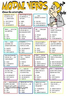 Modal verbs - quiz