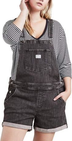 f270b8c147 Levi s Levis Plus Size Denim Short Overalls Jean Overall Outfits