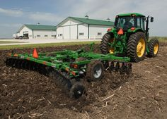 We disc and plow the soil in our hay fields for optimal production. To prepare the soil for warm season grasses. We plant coastal bermuda grass for grazing and hay production. Country Farm, Country Life, John Deere Combine, John Deere Equipment, Tractor Implements, Future Farms, Farm Barn, Ranch Life, John Deere Tractors