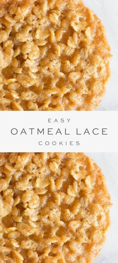 Oatmeal Lace Cookies are a thin, chewy oatmeal cookie with a deliciously sugary taste, that are stackable for easy gifting. They are made with just 7 staple ingredients and are so quick and easy to make! Lace Cookies Recipe, Best No Bake Cookies, Chewy Sugar Cookie Recipe, Quick Cookies, Easy Sugar Cookies, Oatmeal Cookie Recipes, Lemon Cookies, Easy Cookie Recipes, Sweet Recipes