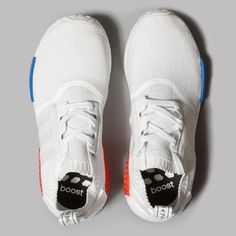 adidas Nomad Runner Primeknit (Vintage White / Vintage White / Lush Red)