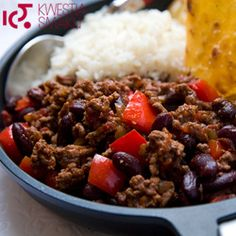 easy and fast chilli con carne Healthy Dinner Recipes, Snack Recipes, Cooking Recipes, Healthy Food, Healthy Dinners, Tortillas, Tex Mex, Mozzarella, Food To Make