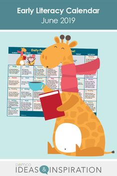 Keep little ones happy this summer with a June calendar full of early literacy activities. Get ideas for crafts, activities, books, songs, and celebrations. Best Friend Day, Friends Day, Free Activities, Literacy Activities, Before Kindergarten, Reading Themes, Math 2, Library Programs, Book Suggestions