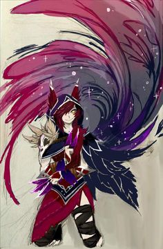 Xayah except digitalized by Lee9210