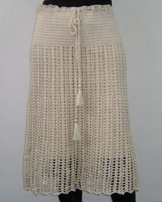 crocheted skirt