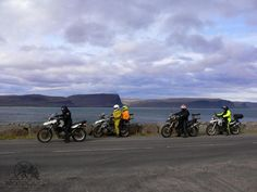 A short stop - one fjord after the other in the distance. Iceland Fire & Ice Motorcycle Adventure with MotoQuest : https://www.motoquest.com/guided-motorcycle-tour.php?iceland-motorcycle-adventure-39