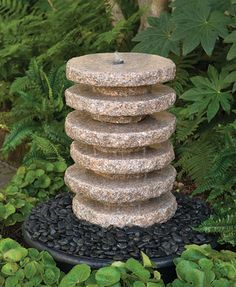 It's nearly impossible to create the beautiful, custom granite looks you've become accustomed to from Prestige without also creating a lot of granite scraps. Scrap granite, or remnants,… Diy Garden Fountains, Pond Fountains, Granite Remnants, Charleston Gardens, Outdoor Projects, Outdoor Decor, Exterior Paint Colors For House, Granite Slab, Craftsman Style Homes