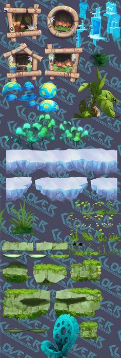 느낌굳 Game Environment, Environment Concept Art, Environment Design, Game Design, Ux Design, 2d Game Art, 2d Art, Hand Painted Textures, Game Props