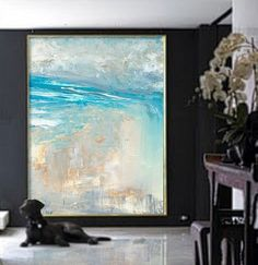 Overscale ABSTRACT PAINTINGORIGINAL Landscape Large by tegafineart