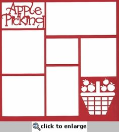 Apple Picking 12 x 12 Overlay Laser Die Cut