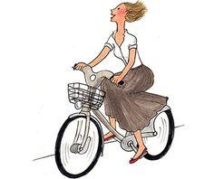 My Little Paris . Illustration Photo, Paris Illustration, Illustrations, Paris Vintage, Little Paris, Cartoon People, Paris Art, Bicycle Art, Jolie Photo