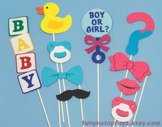 Photo Booth Prop Set - 10 Piece Gender Reveal Photobooth Set - Photobooth Props. Etsy