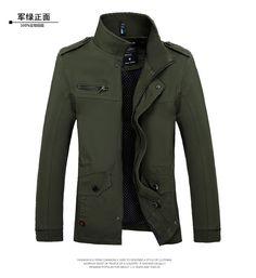 e213d068301b Aliexpress.com   Buy 2016 Spring Autumn Men s cotton printing washed jacket  Khaki jaqueta fashion