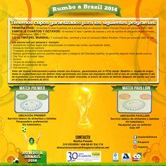 Cupos garantizados para el mundial de fútbol que se realizará en brasil el próximo año.  #brasil #colombia #fifa #worldcup