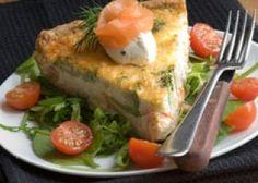 Quiche au saumon sans pâte