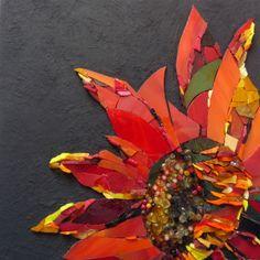 Red Sunflower by Nicky Tudor