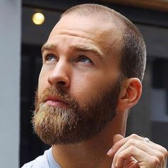 hair and beard styles Shaved Head With Beard, Short Hair With Beard, Mens Hairstyles With Beard, Men's Hairstyles, Bald Men With Beards, Bald With Beard, Red Beard, Buzz Cut And Beard, Stubble Beard
