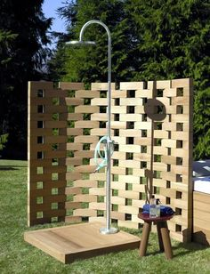 The shower for the garden - Solar, like waterfall and with privacy