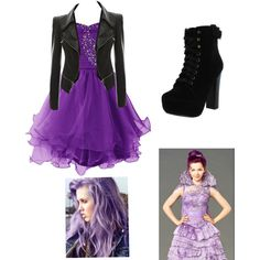 Mal: Descendants by e-f-j on Polyvore featuring Chelsea Crew