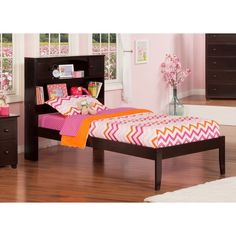 Atlantic Furniture Newport Espresso (Brown) Open Foot Twin Bed (Size & Color) #furniturecollection