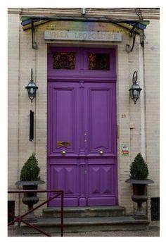 Paint front door purple   Lavender Bliss: Soft, Purple Hued Painted Exterior Doors