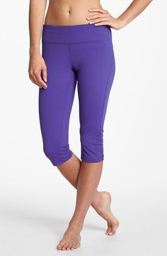 Great for Zumba+ Yoga classes. The Zella 'Live In' Capri Leggings (Purple Regal) available at #Nordstrom