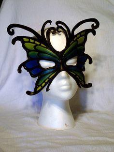 Custom Leather Butterfly/Fairy Mask. $90.00, via Etsy.