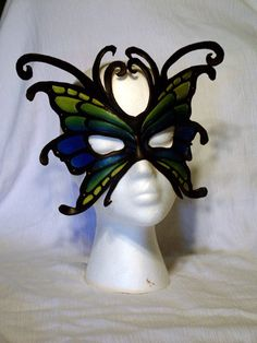 Custom Leather Butterfly/Fairy Mask. $90.00, via Etsy.