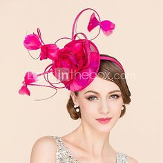 Women's / Flower Girl's Feather / Flax Headpiece-Wedding / Special Occasion / Casual Fascinators / Hats 1 Piece 2016 - $72.99