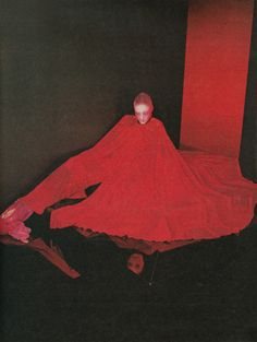 Serge Lutens, for the french Elle, Haute Couture, march 1975. Yves Saint Laurent, Pierre Cardin, Guy Laroche…R