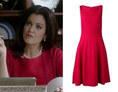 Scandal: Season 4 Episode 9 Mellie's Red Pleat Dress