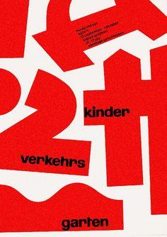 Marcus Hodel – Poster for children's traffic school, 1950