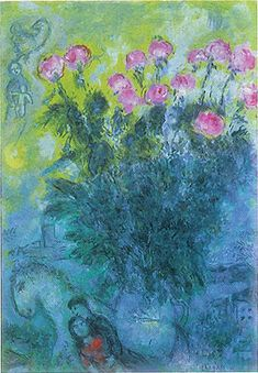 Paintings Reproductions Chagall, Marc Roses more about #marcchagall #art #jewish http://www.johanpersyn.com/category/humanity/art/marc-chagall/