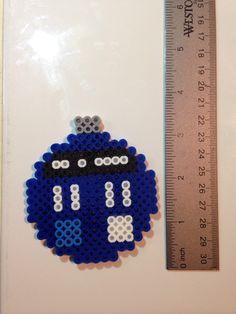 Doctor Who Tardis Perler Bead Christmas Ornament by RoxxysRandomness on Etsy https://www.etsy.com/listing/253328204/doctor-who-tardis-perler-bead-christmas
