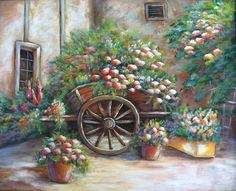 FLOWERS FOR SALE an original acrylic painting by DianeTrierweiler, $149.99