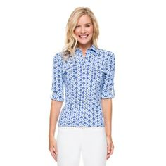 MONROE SHIRT IN DECO KNOT   Our distinctively different take on the safari shirt. Spun from our exclusive Catalina Cloth™, it merges all the classic details with unexpected color and pattern.