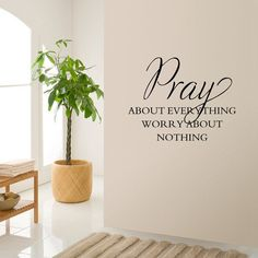 Fashionable Waterproof DIY Bible Pray Proverbs Pattern Wall Sticker - BLACK
