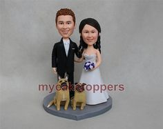 Custom wedding cake topper Bride and groom cake by dealeasynet