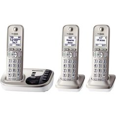 Panasonic Kx-Tgd223N Dect 6.0 Plus Expandable Digital Cordless Answering System (3-Handset System)