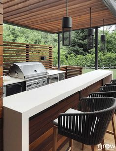 Modern Outdoor Kitchen, Outdoor Kitchen Bars, Backyard Kitchen, Outdoor Bars, Modern Outdoor Bar Stools, Outdoor Grill Area, Outdoor Patio Bar, Modern Outdoor Grills, Rustic Outdoor Kitchens