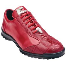 5a4431af Paulo Red Genuine Ostrich & Calfskin Sneakers by Belvedere Terneros, India,  Zapatos Deportivos De