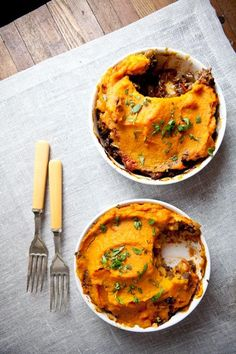 Moroccan Shepherd's Pie with Sweet Potato | Our Four Forks
