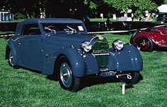 1934 Bugatti Type 57 convertible coupe, part of the 1934-1940 Bugatti Type 57/57C line of collectible cars