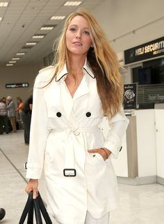 Pin for Later: Blake Lively Covers Her Growing Baby Bump During a Casual Outing in France