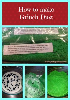 how to plan a Grinch party - and how to make grinch dust