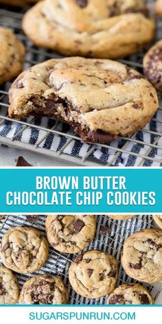 Infused with the rich, nutty flavor of browned butter, loaded with semisweet chocolate, and topped off with flaky sea salt, these Brown Butter Chocolate Chip Cookies are world-class cookies. Easy Cookie Recipes, New Recipes, Baking Recipes, Butter Chocolate Chip Cookies, Best Chocolate Chip Cookie, No Bake Desserts, Easy Desserts, Brown Butter, Sea Salt