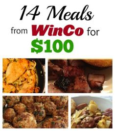 14 meals from WinCo for $100! Yep, this is awesome.