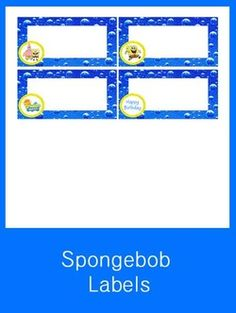 Spongebob Squarepants Labels - FREE PDF Download
